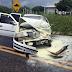 Carro tenta ultrapassagem e colide com caminhão na CE-176