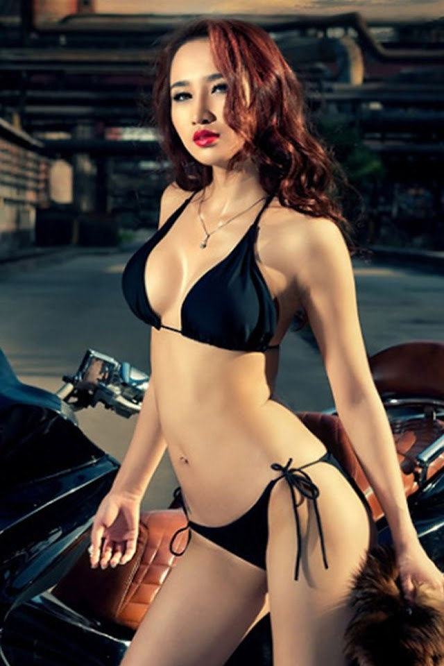 Android Best Wallpapers Sexy Asian Motor Girl Android -3095