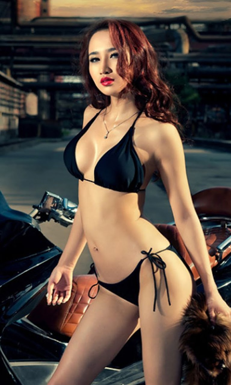 Android Best Wallpapers Sexy Asian Motor Girl Android -2012