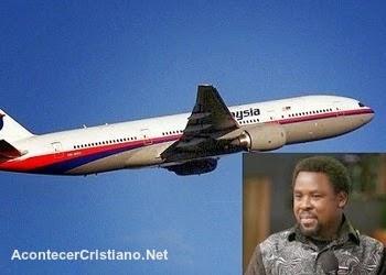 Profecía de TB Joshua de desaparición del avión de Malaysia Airlines