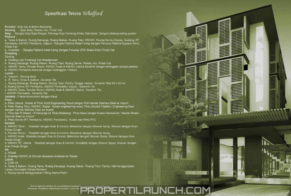 Spesifikasi Rumah Whelford Greenwich Park