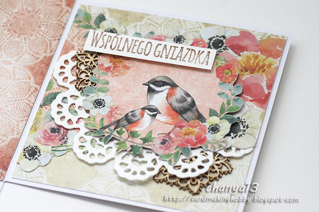 Ślubne pudełko z ptaszkami