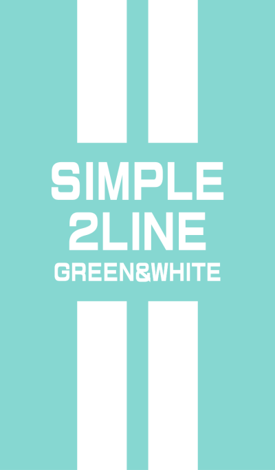 Green & White double line(2line)