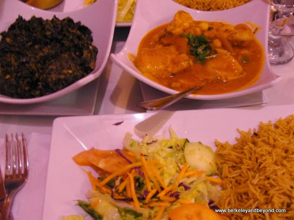 vegetarian dishes at Afghan Kebab & Grill in Jackson Heights, Queens, NYC