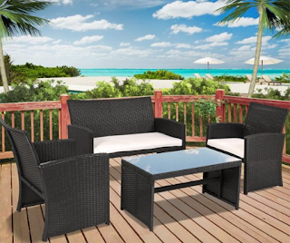 Best Choice Products Outdoor Garden Patio 4pc Cushioned Seat Black Wicker Sofa Furniture Set, Best Choice Products Rattan Wicker Sofa Sets, Outdoor Sofa Sets, Outdoor Sofas, Outdoor Furniture, Best Choice Products, Best Choice Products Wicker Sofa Sets, Outdoor Sofa Sets, Sofa Sets, Wicker Sofa Sets,