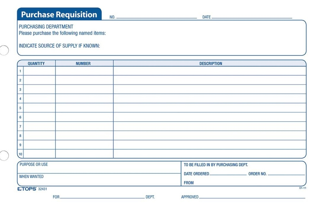 Purchase requisition Template how to make Requisition of Purchase
