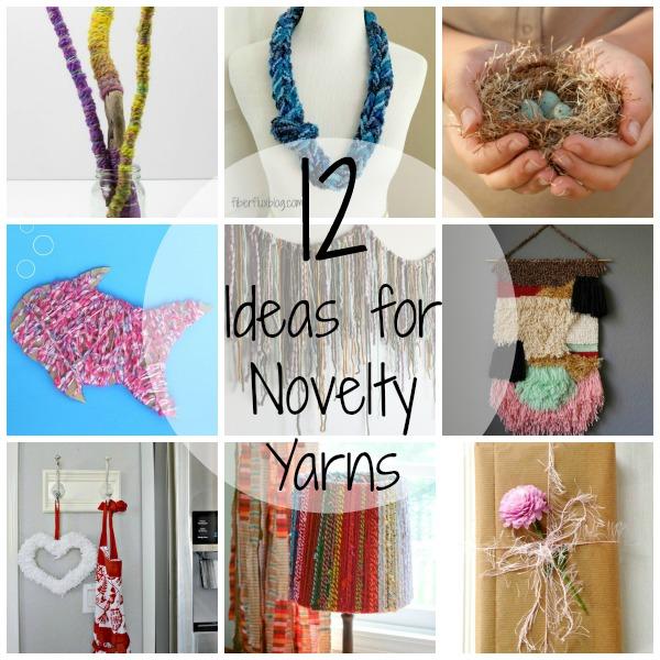 12 alternative ideas for novelty yarns
