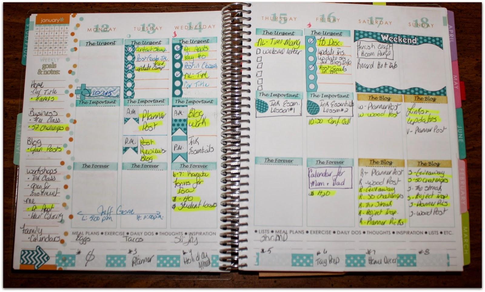 Kitchen Planner Everyday Moodlings Planner Update My Erin Condren Life