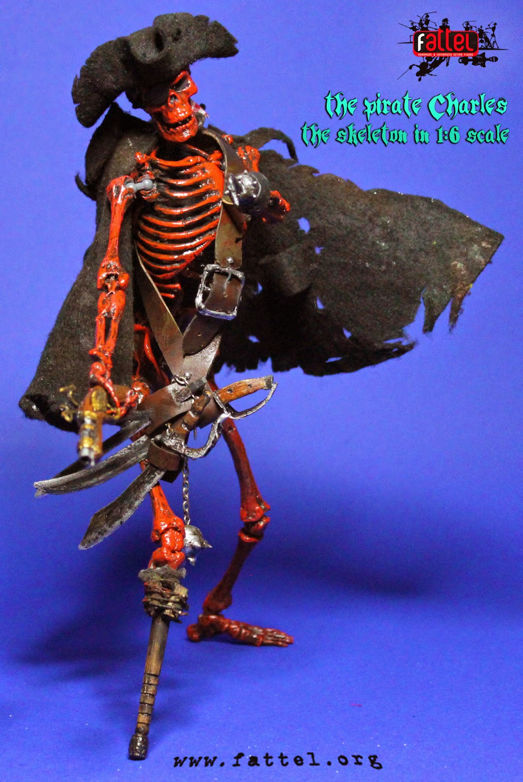 Action figure skeleton by Fattel: the pirate Charles the ...