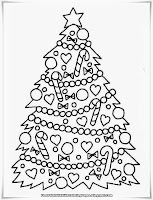 Christmas Tree Printable Kids Coloring Pages