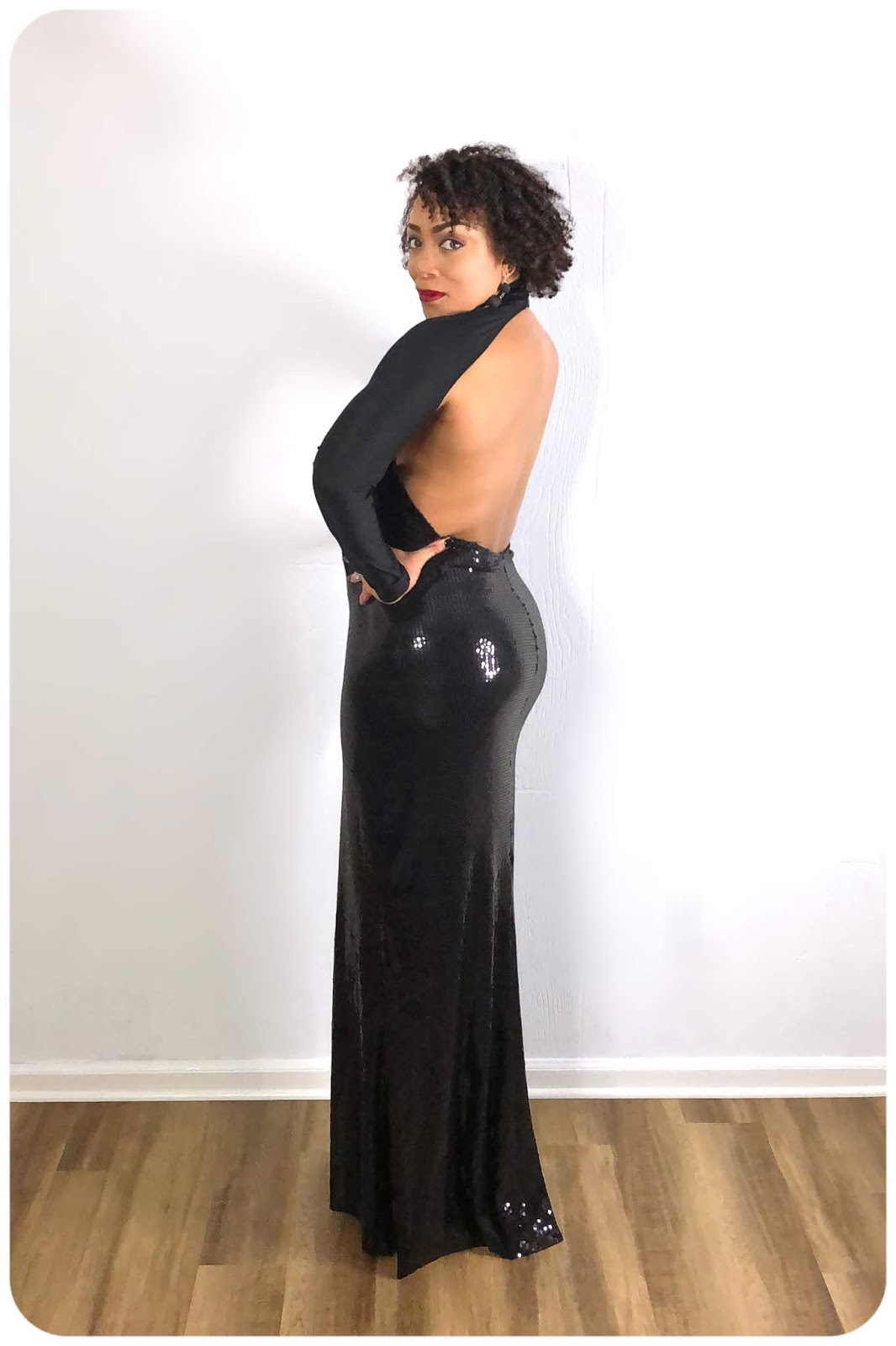 6b795dad69 Vintage Vogue 2230 - Full-Length Black Sequin Gown!