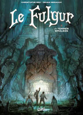 """couverture de """"Le Fulgur T3 Les Terres Brûlées"""" de Christophe Bec, et Dejan Nenadov chez Soleil"""