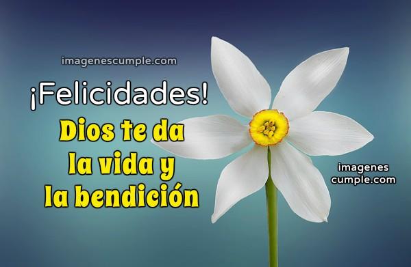 Frases de cumpleaños, felicidades, imagen de cumple en bendición, imagen cristiana de cumpleaños por Mery Bracho