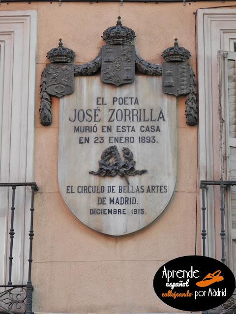 aquí murió Zorrilla