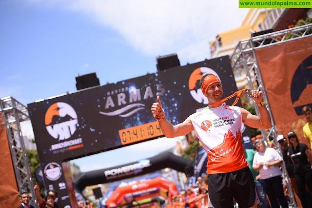 Ida Nilsson hace triplete en la Ultramaratón Transvulcania Naviera Armas y Pere Aurel logra su primer triunfo en La Palma