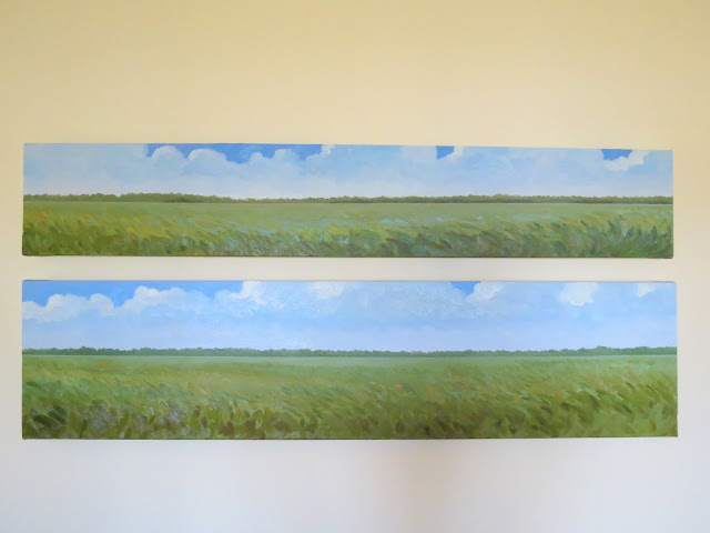 abstract paintings of lowcountry marsh