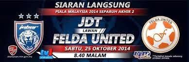 Video Gol JDT Tewaskan Felda United 25 Oktober 2014