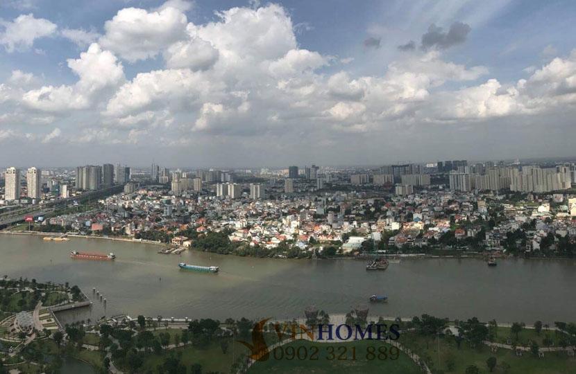 Cho thuê căn hộ Vinhomes 4 phòng ngủ Landmark 1 - view công viên và sông Sài Gòn