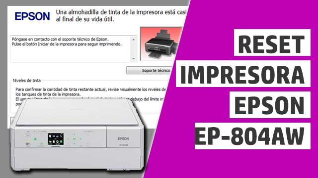 resetear almohadillas impresora Epson EP804AW