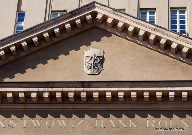 orzeł Warszawa Warsaw Nowogrodzka Państwowy Bank Rolny monumentalizm Marian Lalewicz architektura architecture