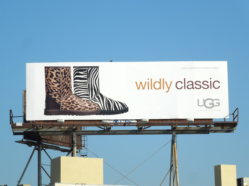 Wildly Classic UGG animal print boots billboard