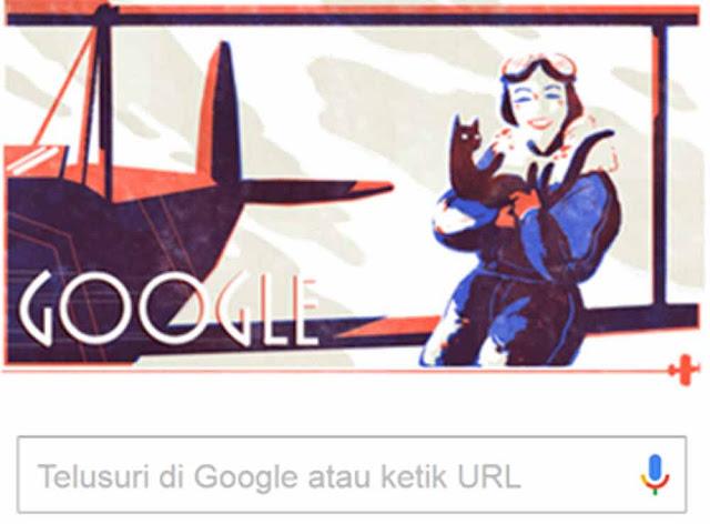 Hari ini Kamis 15 September 2016, google kembali memberi kejutan. Kali ini, perusahaan raksasa dunia ini menampilkan sosok Jean Batten sebagai doodle google yang tampil setiap kali anda membuka situs google.