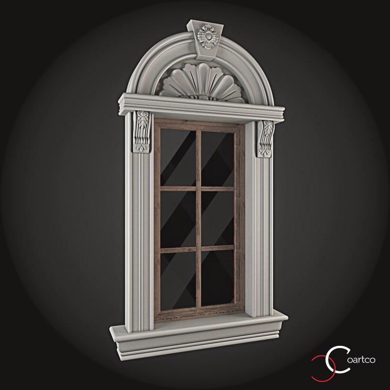 Ornamente Geamuri Exterior, Arcada fatade case cu profile decorative polistiren, profile fatada,  Model Cod: WIN-026
