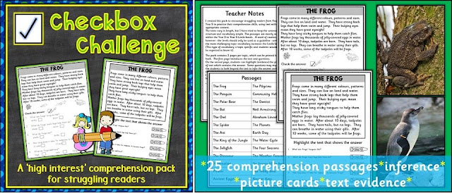 Click here for your comprehension pack on TPT