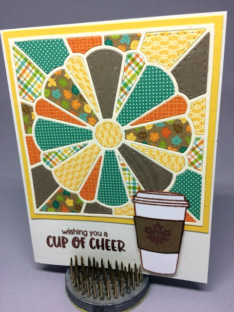 Sunny Studio Stamps: Mug Hugs Fall Card by Barb Ross
