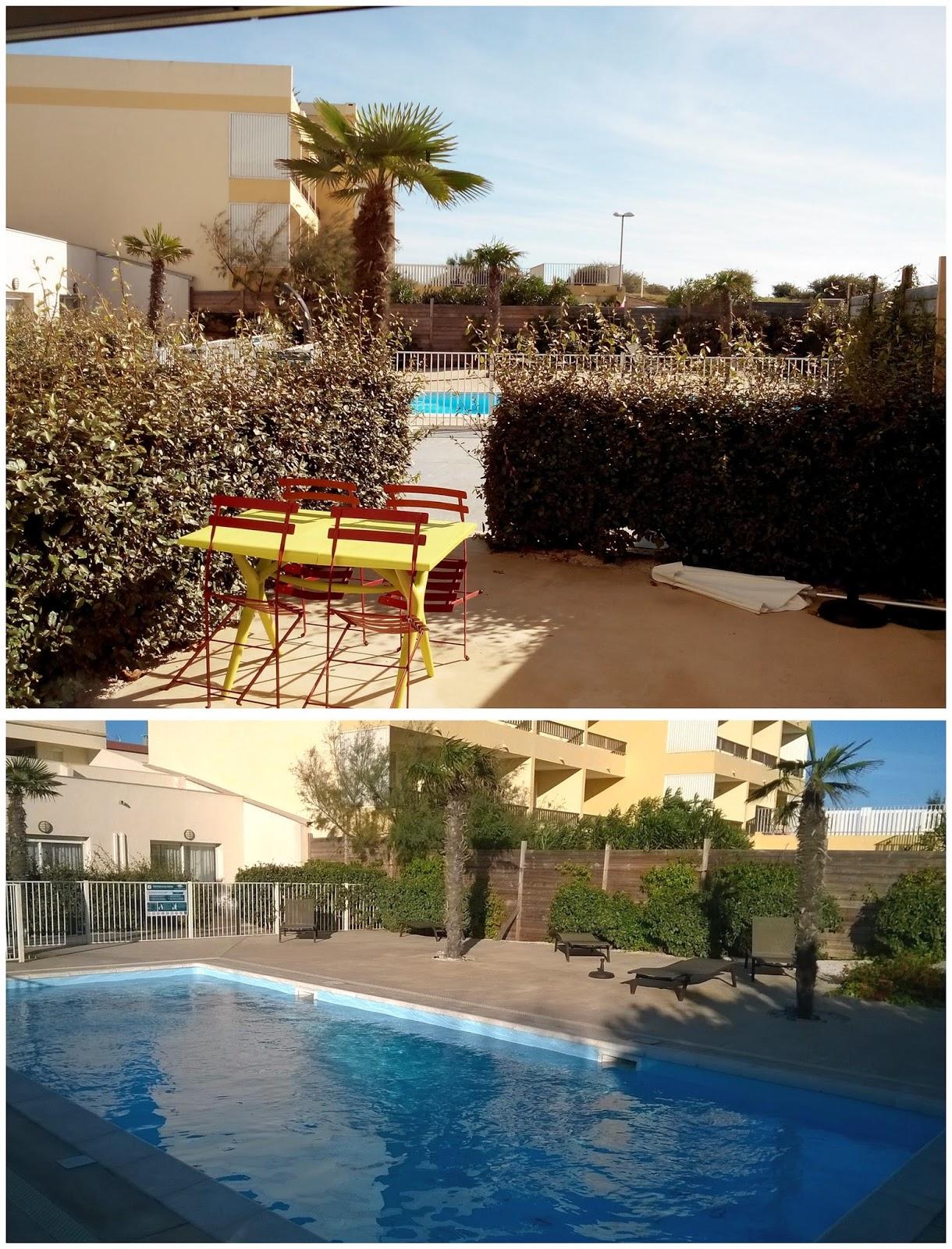 piscine, terrasse, thalacap, cap d'agde, bullelodie