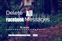 How to Delete all messages at once on Facebook | Delete Facebook Messages And Chats at Once