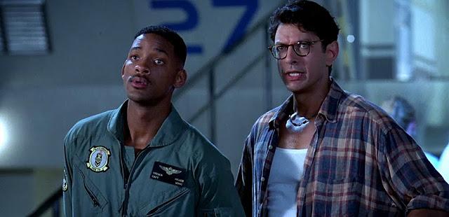 Will Smith şi Jeff Goldblum în Independence Day 1996