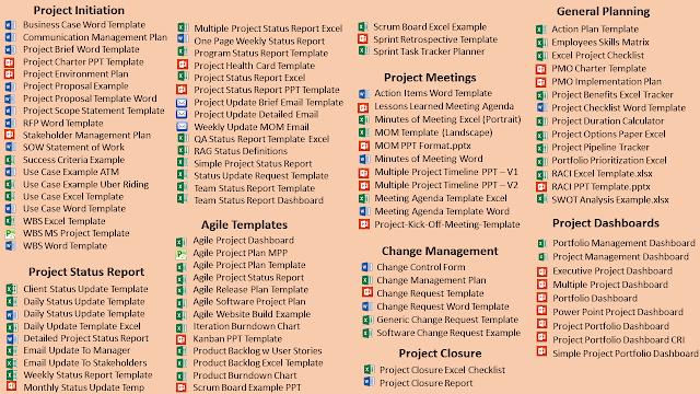 Project Management Templates Sale