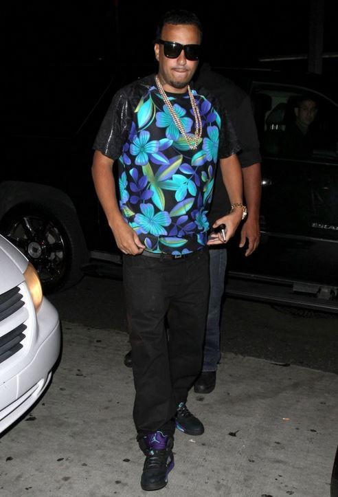 be513af0c36 Celeb Sneaker Game  French Montana Wearing Air Jordan 5 Retro