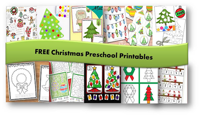 FREE Christmas Preschool Printables perfect for making learning fun in December