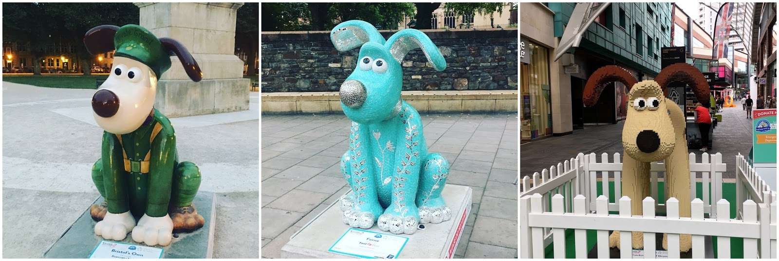 Gromit 2 Unleashed statues in Bristol