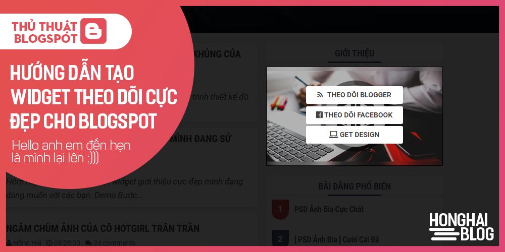 Hướng dẫn tạo widget theo dõi cực đẹp cho blogspot