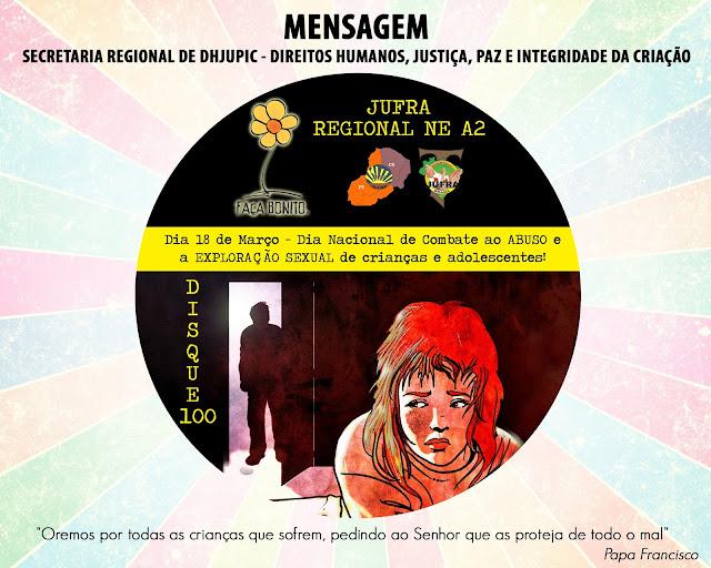 SECRETARIA REGIONAL DE DHJUPIC LANÇA MENSAGEM PELO DIA NACIONAL DE COMBATE AO ABUSO E EXPLORAÇÃO SEXUAL DE CRIANÇAS E ADOLESCENTES!