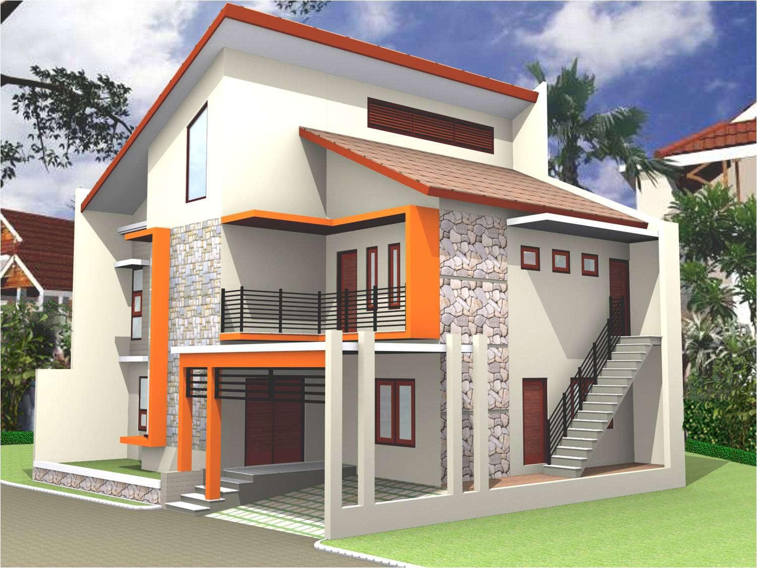 Desain Rumah Sederhana Minimalis 2 Lantai Modern