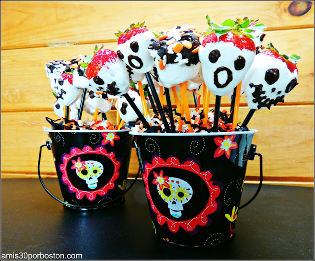 Comida Terrorífica para Fiestas de Halloween de Miedo: Fresas Fantasmas