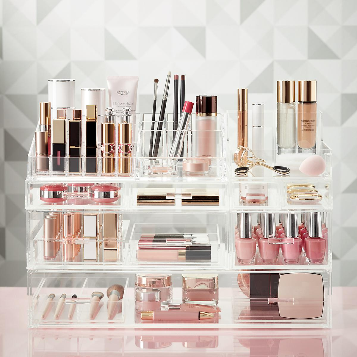 Luxe Acrylic Large Makeup U0026 Nail Polish Storage Kit Sale $160.29 (Retail  $202.89): This Solution Includes: (1) Luxe Long 2 Section Divided Insert ,  (1) Luxe ...