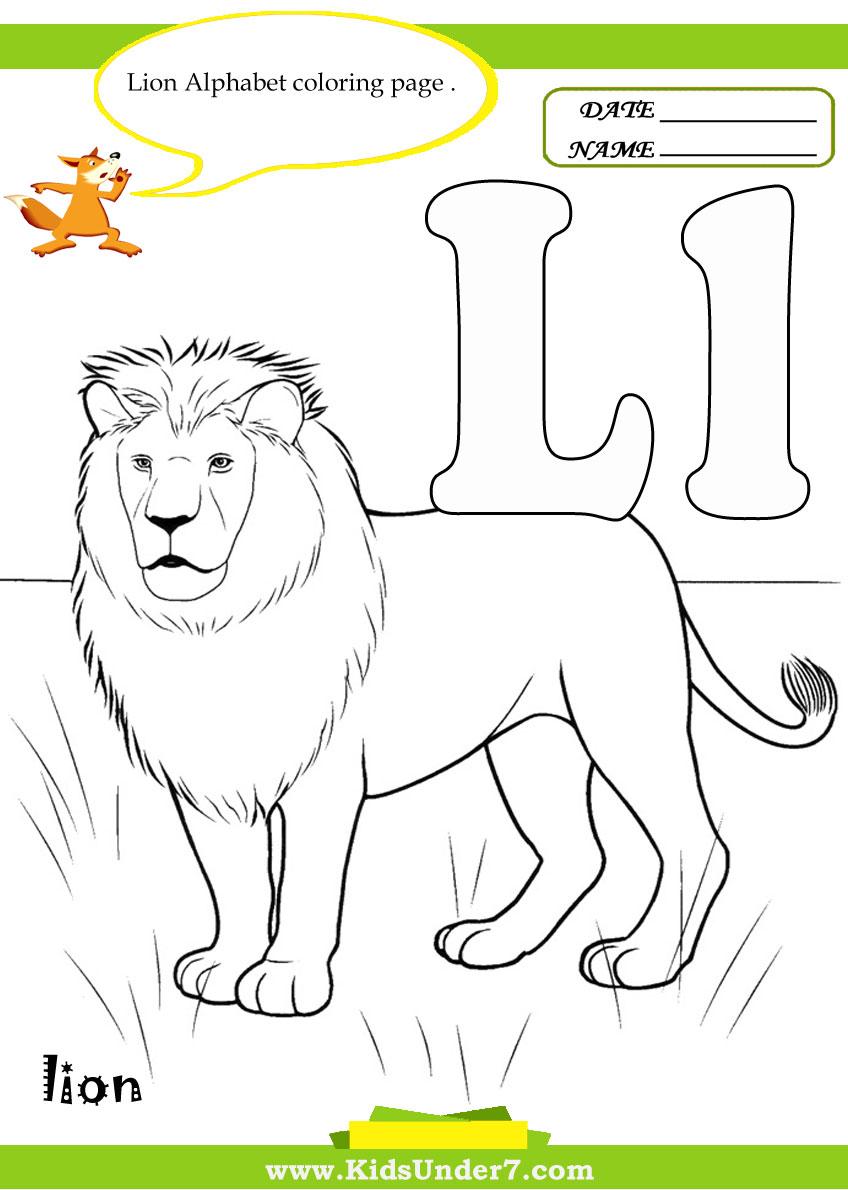 kids under 7 letter l worksheets and coloring pagesletter l worksheets and coloring pages