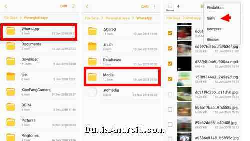 Cara Menyimpan File Foto Dan Video Status Whatsapp Ke Memori Hp Dunia Android