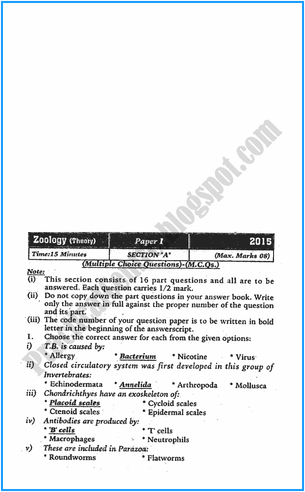 11th-zoology-five-year-paper-2015