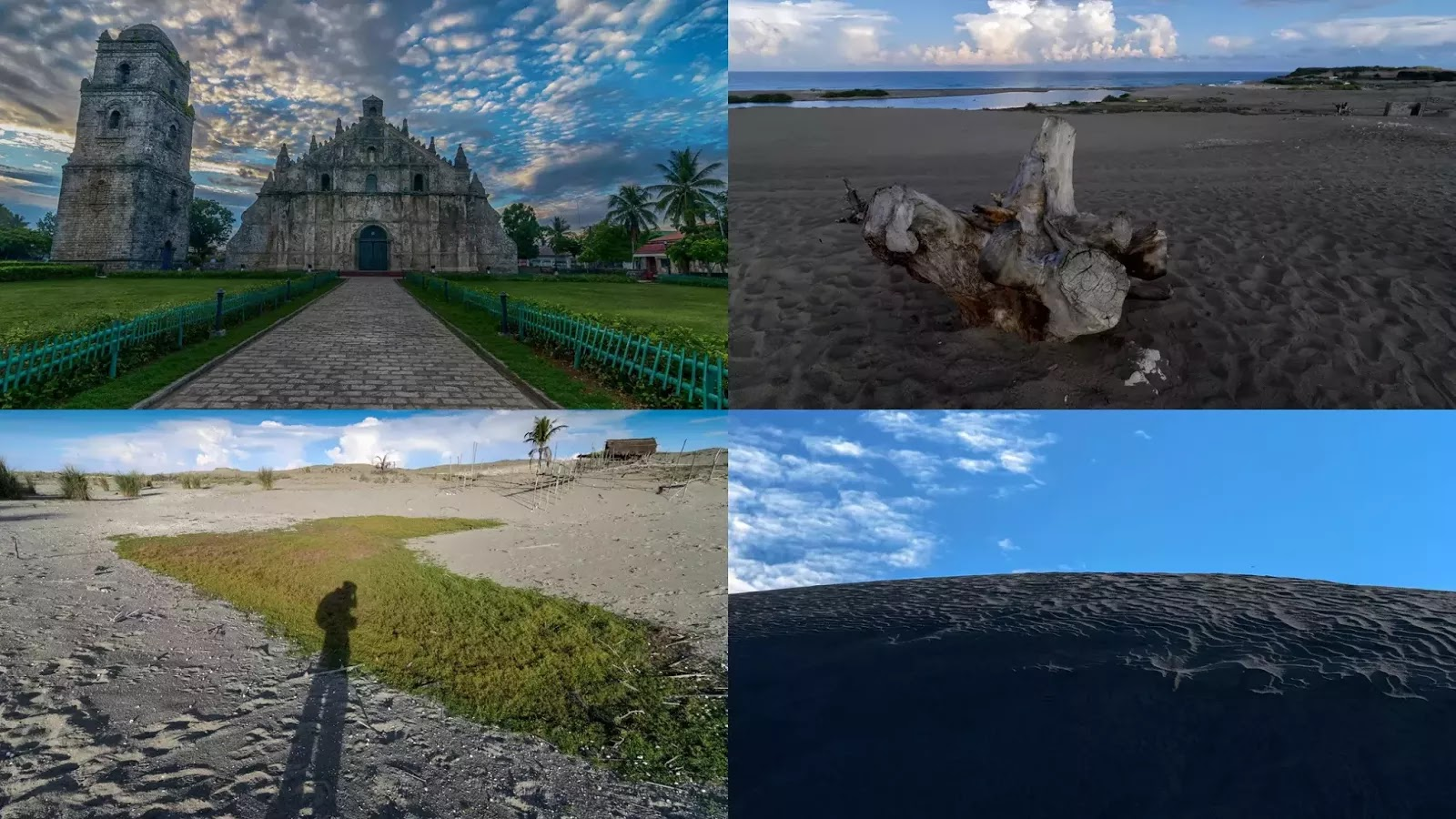 A Paoay Church Culili Point Sand Dunes Collage Ilocos Norte Philippines