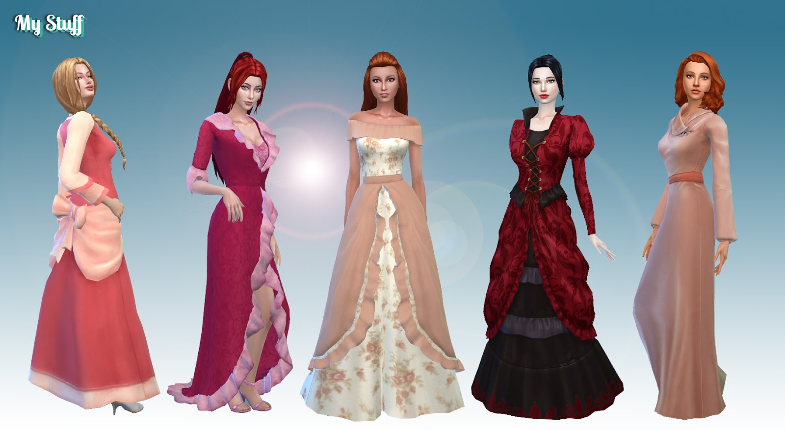 My Stuff Female Historical Clothes Pack 2