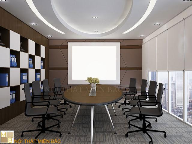 Ưu điểm của loại bàn phòng họp veneer