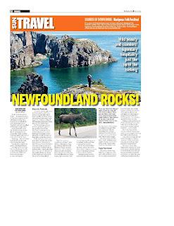 Newfoundland Rocks. Photograph by Janie Robinson, Travel Writer