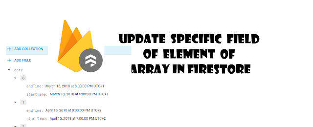 Firebase - update a spacific fields of single element of object of array in firestore