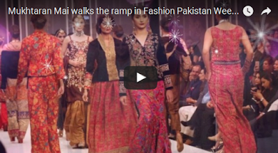 Mukhtaran Mai walks the ramp in FPW 2016